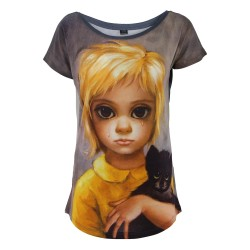 VESTI L'ARTE multicolor woman t-shirt mod. MK03TSX THE STRAY MADE IN ITALY