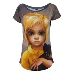 VESTI L'ARTE t-shirt donna multicolor mod. MK03TSX THE STRAY MADE IN ITALY