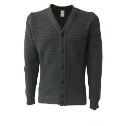 GRP cardigan man gray 100% wool MADE IN ITALY