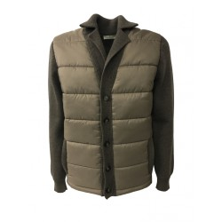 PANICALE man dove-gray jacket 100% wool + padded fabric MADE IN ITALY