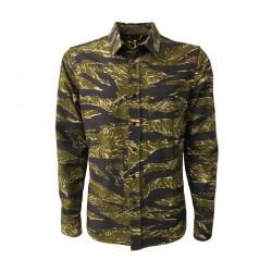 ASPESI man shirt/jacket green mod A CE84 G220 R2 UT-SHIRT 100% cotton