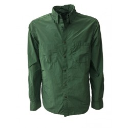 ASPESI giacca camicia uomo verde, modello ALVARO I002 F973 80% poliestere 20% poliammide