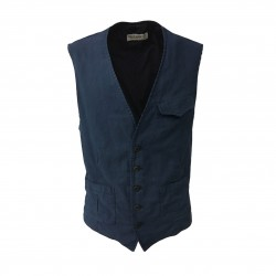 JOLLY WORK men's blue vest mod PUCCINI 98% cotton 2% elastane MADE IN ITALY