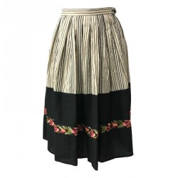 ATTIC AND BARN skirt woman ecru / black with applications mod FRIDA MADE IN ITALY