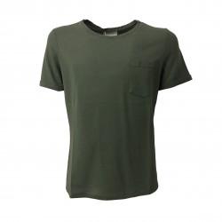 GIRELLI BRUNI men's shirt green mod R 039 CT 100% cotton MADE IN ITALY