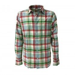 ASPESI man shirt blue/green long sleeves, with pocket mod CC02 G065 RIDOTTA II 100% cotton