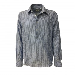 ASPESI man shirt light blue/white long sleeves mod A CE66 G163 CHIUSA 98% cotton 2% polyurethane