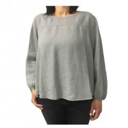 ASPESI camicia donna grigio mod H718 C195 100% lino