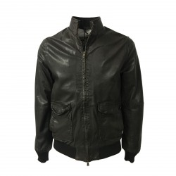 D'AMICO brown man jacket mod HORNET DGU0249 100% leather