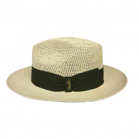 prezzo incredibile prezzo più economico super qualità BORSALINO cappello uomo 141106 Panama semi-crochet 100% Paglia MADE IN ITALY