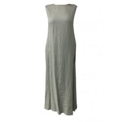 ASPESI abito donna lungo senza manica mod H613 C195 100% lino MADE IN ITALY