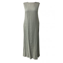 ASPESI long sleeveless woman dress mod H613 C195 100% linen MADE IN ITALY