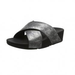 FIT FLOP sandalo donna nero shimmer print LULU CROSS SLIDE K59-547