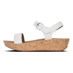 FIT FLOP sandalo donna bianco in pelle mod BON II BACK-STRAP K25-194