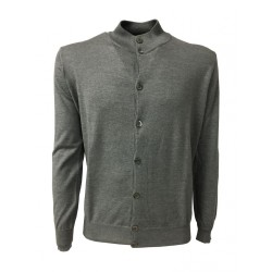 FERRANTE cardigan man with buttons gray 70% cashmere 30% silk MADE IN ITALY