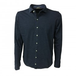 FERRANTE camicia jersey uomo blu delave mod 35611 100% cotone MADE IN ITALY