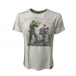 DIRTY VELVET t-shirt highrise gray mod WATER FIGHT DV42306 100% organic cotton