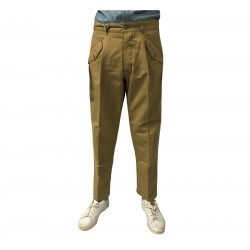 MANIFATTURA CECCARELLI pants man with side pockets camel mod 6518 76% cotton 24% linen MADE IN ITALY