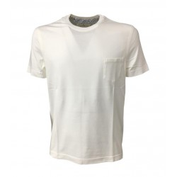 DELLA CIANA white T-shirt man with pocket 100% cotton MADE IN ITALY