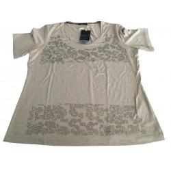 ELENA MIRO ' t-shirt donna mezza manica applicazioni strass 95% viscosa 5% elastan