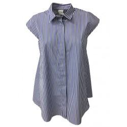 ASPESI camicia donna righe bianco/azzurro mod H809 B863 100% cotone
