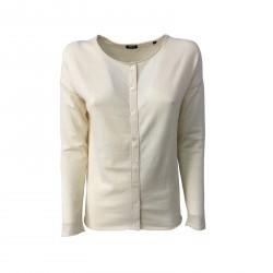 ASPESI cardigan donna ecru mod 3927 3980 100% cotone vestibilità comoda