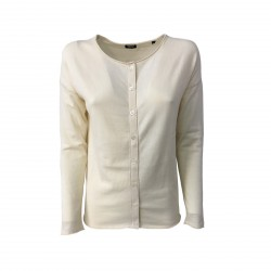 ASPESI women's ecru cardigan mod 3927 3980 100% cotton