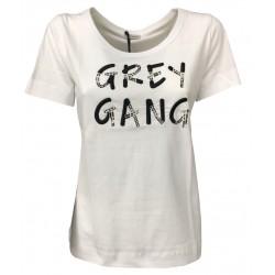 PENNYBLACK white half sleeve woman t-shirt with inserts mod. RADICE