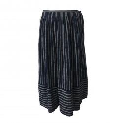 ASPESI women's skirt blue/white lines mod H506 G165 99% cotton 1% polyurethane