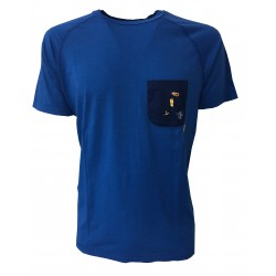 VINTAGE 55 t-shirt short sleeve with pocket with embroidery