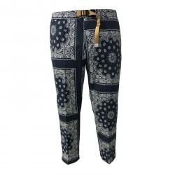 WHITE SAND pantalone uomo fantasia cotone con elastico in vita mod 18SU16 361