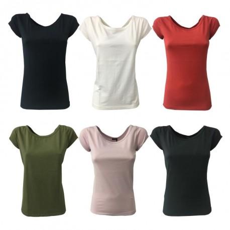 ASPESI t-shirt donna mezza manica mod Z304 rosso 100% cotone MADE IN ITALY