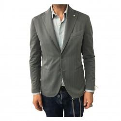 L.B.M 1911 giacca uomo sfoderata grigio spinata doppio spacco slim 2875