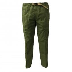 WHITE SAND pantalone uomo verde con elastico in vita tela leggera mod 18SU13 04