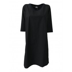 LABO.ART women's dress 3/4 sleeve blue mod PARANA length cm 102 MADE IN ITALY