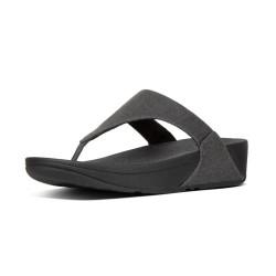 FIT FLOP sandali Infradito nero in denim luccicante LULU K62-532