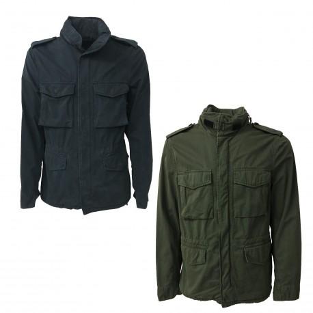 ASPESI man blue jacket unlined art MINIFIELD COT A CG20 A262 100% Cotton
