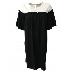 HUMILITY 1949 abito donna mezza manica nero/bianco mod HA6128
