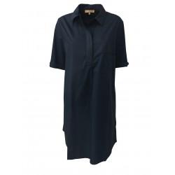 HUMILITY 1949 abito donna mezza manica con tasche laterali blu HA6024 100% cotone MADE IN ITALY
