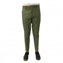 TISSUE' pantalone uomo verde con zip mod TPM00501 100% cotone MADE IN ITALY
