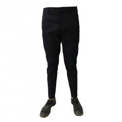 TISSUE' pantalone uomo blu con zip cotone pesante mod TPM00502 MADE IN ITALY