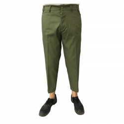 TISSUE' men's trousers green with zip mod TPM00600 G001 100% cotton MADE IN ITALY