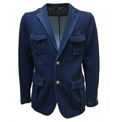 M.I.D.A man jacket fleece brushed denim, 100% cotton fabric fabric MADE IN JAPAN