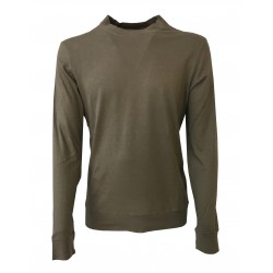 GIRELLI BRUNI t-shirt man with long sleeves military brown MADE IN ITALY