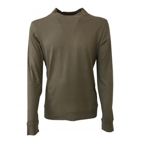 GIRELLI BRUNI t-shirt long sleeve black 100% cotton GIZA 60 MADE IN ITALY