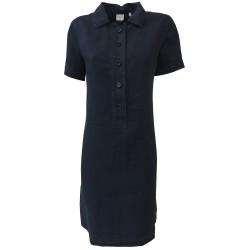ASPESI abito donna blu mezza manica modello H605 C253 100% lino