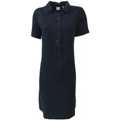 ASPESI woman dress blue half sleeve model H605 C253 100% linen