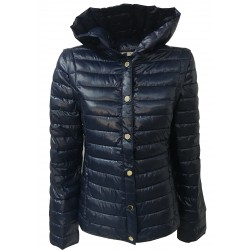 PENNYBLACK down jacket woman blue detachable sleeves model ABSIDE 100% polyester