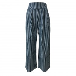 BKØ trousers woman blue/light blue mod DD18127 MADE IN ITALY