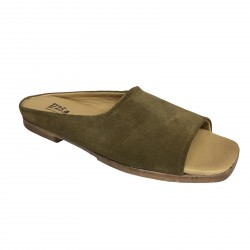 1725.a scarpa donna tabacco mod MURAI02 forma SAMURAI 100% pelle MADE IN ITALY